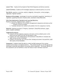 sequences and series scenarios