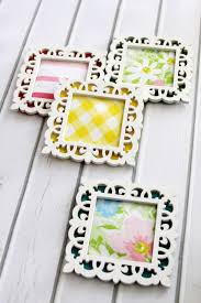 Diy Coasters Colorful Framed Fabric Coasters