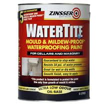 zinsser watertite mould and mildew proof waterproofing paint 5l