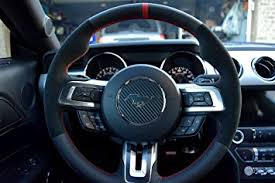 steering wheel for mustang amazon com ford mustang 2015 17 steering wheel cover by