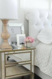 Small Mirrored Nightstand Side Table Thresholda Mirrored Glass Accent Table With Drawer 25