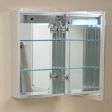 brilliant aluminum medicine cabinet with lighted mirror bathroom