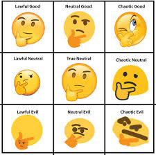 Thinking Memes - a useful chart thinking face emoji know your meme