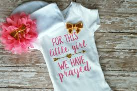 baby bodysuit for this little we have prayed