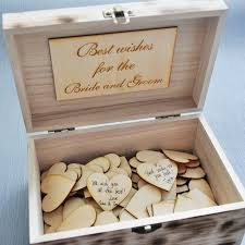 wish box wedding wedding guest book personalized guestbook wooden memory box