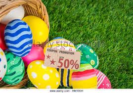 easter eggs sale green coupon voucher coupon stock photos green coupon voucher