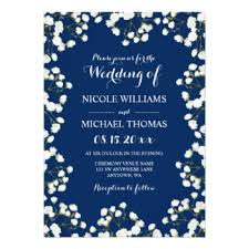 Navy Blue Wedding Invitations Navy Blue Border Invitations U0026 Announcements Zazzle