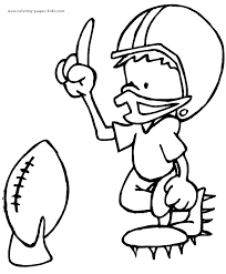 Football Rugby Color Coloring Pages Kids Sports