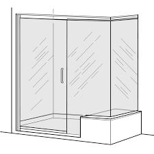 Standard Shower Door Sizes Shower Frameless Pivot Shower Door With In Line Panel And