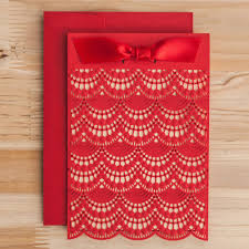 Engagement Invitations Card Online Shop Laser Cut Wedding Invitations Cards Red Ivory Lace