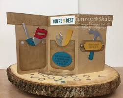 nailed it stamp set and build it framelits dies tool belt card