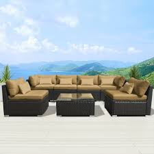 Dark Brown Wicker Patio Furniture by Amazon Com Modenzi 7g U Outdoor Sectional Patio Furniture