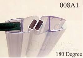 008a1w 8mm white magnetic door seal magnetic strip shower door