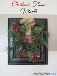 diy christmas frame with wreath christmas decor christmas craft