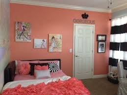 White Bedroom Ideas Kayton Coral Accent Wall Girls Bedroom Fashion Black And White