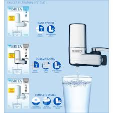 brita basic on tap faucet water filter system fits standard