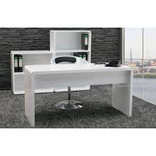 White High Gloss Office Desk Lumiere Office Desk High Gloss Office Desk White