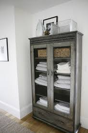 Linen Cabinet For Bathroom Gorgeous Bathroom Linen Cabinet From A Modern Farmhouse By H2