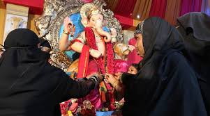 when of various faiths celebrated bakrid and ganesh