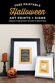 printable halloween art prints and signs elegance u0026 enchantment