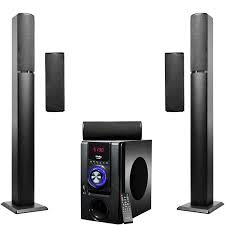 home theater systems amazon com amazon com frisby fs 6700bt 5 1 surround sound tower home theater