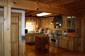 log cabin kitchen kitchen rustic with wood cabinets cast iron