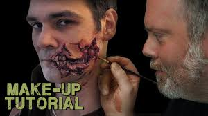 halloween prosthetic makeup kits walking dead style prosthetic application youtube