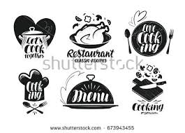 kitchen cuisine restaurant menu food label set cooking stock vector 673943455