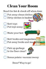 how to clean a room parenting checklist clean your room rls creativity