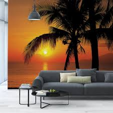 komar 100 in x 145 in palmy beach sunrise wall mural 8 255 the palmy beach sunrise wall mural