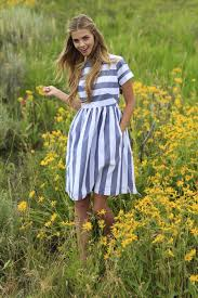 kai dress navy and white striped from the fall collection by