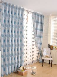 and blue apple fruit designer modern long length curtains