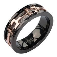 mens spinner rings mens spinner rings 8mm ip black stainless steel cable spinner ring