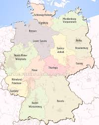 germany europe map germany political map