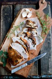 roasted turkey breast with bacon and herbs jelly toast