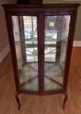 mahogany antique curio cabinets ebay