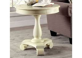 White Round Accent Table Add A Touch Of Elegance To Your Living Room With An Occasional Table