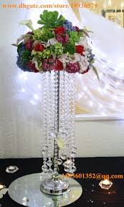Crystal Wedding Centerpieces Wholesale by H28sparkling Acrylic Beaded Ring Chandelier Crystal Wedding