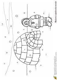 coloriage dessin igloo et esquimau idées pour la maison