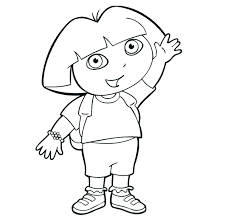 coloring pages dora explorer coloring pages pdf coloring