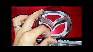 mazda car emblem how to install led emblem on 2015 mazda 3 youtube