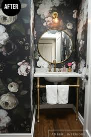 bathroom bold dark floral wallpaper bathroom bright and colorful