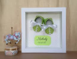 keepsake gifts for baby nursery decor origami baby shoes booties framed 3d wall