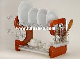 kitchen dish rack ideas decor u0026 tips charming 2 layer wooden dish drainer rack for plates