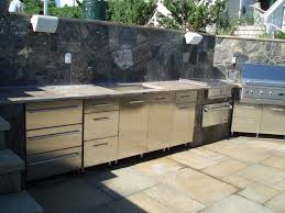 Outdoor Cabinets And Countertops Kitchen Stunning Design Of The Outdoor Kitchen With Silver