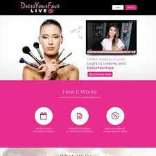 online makeup courses free new landing page for online makeup tutorial company landing page