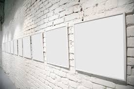 blank picture frame hanging on the wall of lime 50428 stage