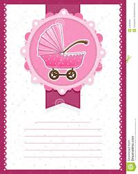 Free Baby Shower Invitation Cards Baby Stroller Invitation Card Royalty Free Stock Photography