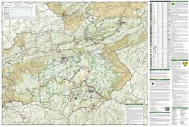 George Washington National Forest Map by Mount Rogers High Country National Geographic Trails Illustrated