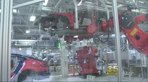 tesla factory tesla allows cameras in fremont factory for rare tour cbs san